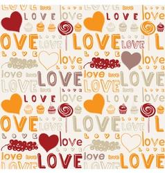 Retro Love Food Background vector image vector image