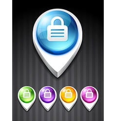 3d style lock icon vector image