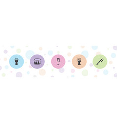 5 acoustic icons vector