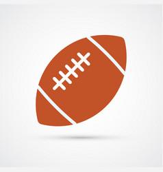 american football colored ball vector image
