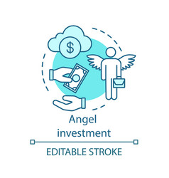 Angel investment concept icon vector