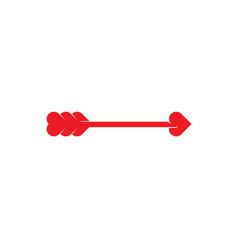 arrow heart cupid shot logo icon vector image