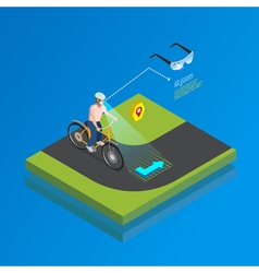 Augmented Reality Navigation Gadget Isometric vector image vector image