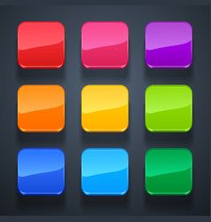 Background for the app icons-glass set vector