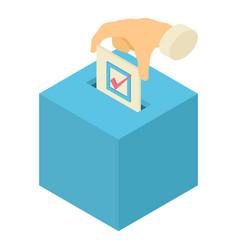 ballot box icon isometric 3d style vector image