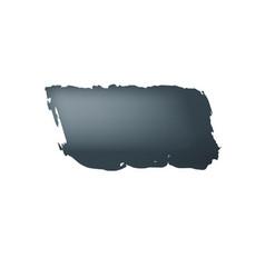brush stroke black paint on white background vector image