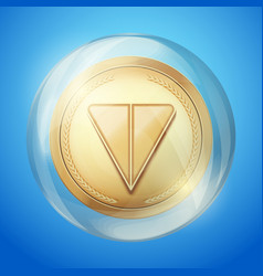 Bubble with ton sign vector