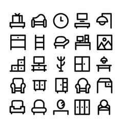 Buildings and Furniture Icons 7 vector