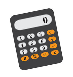 Calculator icon flat cartoon style isolated on vector