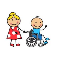Cartoon man on a wheelchair vector image