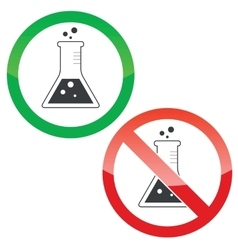 Chemistry permission signs set vector