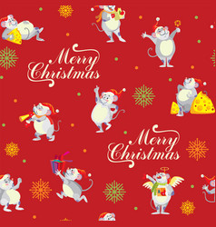 christmas seamless pattern 9 vector image
