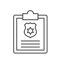 clip and clipboard with police shield symbol vector image