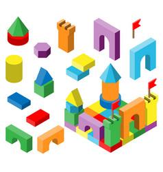 Colourful building blocks for development vector