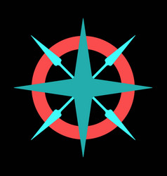 compass rose with north south east and west vector image