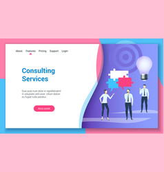 consulting services lp template vector image