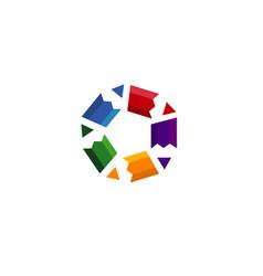 creative pen stars logo vector image