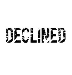 Declined typographic stamp vector