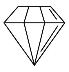 diamond stone icon outline style vector image