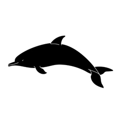 Dolphin silhouette on a white background vector image
