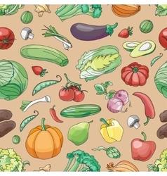Doodle pattern of vegetables vector