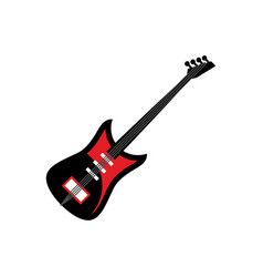 electric guitar isolated musical instruments on vector image