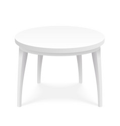 Empty round table platform stand surface isometric vector