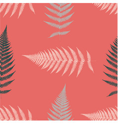 Fern seamless pattern living coral vector