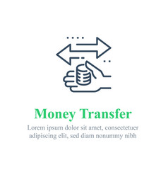 Finance transfer send money instant payment vector