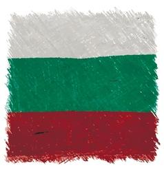 Flag of Bulgaria handmade square shape vector image