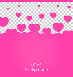 flying heart background love valentine day vector image