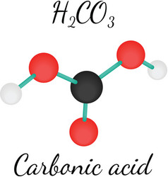 H2CO3 Carbonic acid molecule vector image