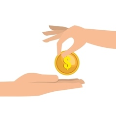 Hand money currency cash isolated vector