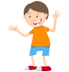 happy boy cartoon character vector image