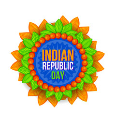 Happy republic day indian festival background vector