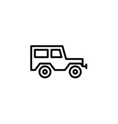 hardtop car icon line style icon vector image