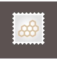 Honeycomb bee stamp Outline vector
