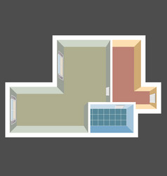 house top view apartment plan vector image