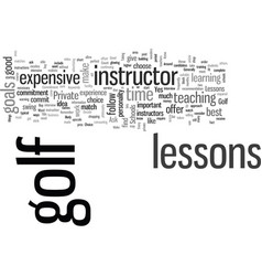 how to buy good golf lessons vector image