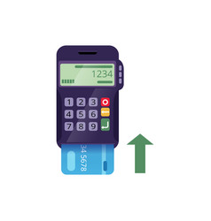Icon of electronic terminal and credit card vector