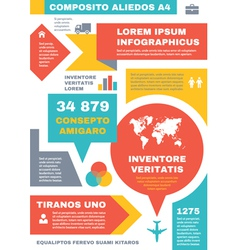 Infographic business concept on vertical a4 format vector