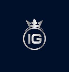 Initial letter ig logo template design vector