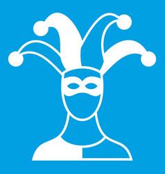 jester icon white vector image