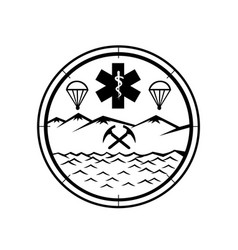 Land sea air rescue icon sign symbol black vector