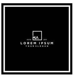 Letter ma square logo design vector