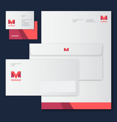M letter monogram corporate style vector