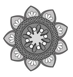 Mandala art decorative icon vector
