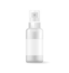 Medical aerosol bottle sprayer container dispenser vector