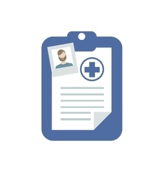 Medical history icon vector