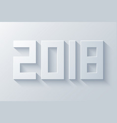 modern 2018 happy new year vector image